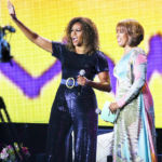 Michelle Obama Sparkles In Glittery Blue Jumpsuit At Essence Festival – Pics