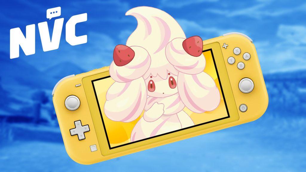 Our Delicious Nintendo Switch Lite and Cream Pokemon