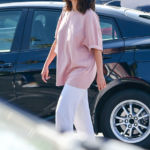 Selena Gomez Rocks A Pink T-Shirt In LA After Beach Vacation For Cousin's Bachelorette Party – Pic