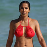 Padma Lakshmi, 48, Shows Off Her Toned Abs In Purple String Bikini In The Hamptons – Pic