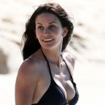 Courteney Cox, 55, Looks Half Her Age In Black String Bikini During Some Poolside Fun – Watch