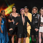 Megan Rapinoe Rocks Leather Shorts To Accept Best Team Award With U.S. Soccer Teammates At ESPYs