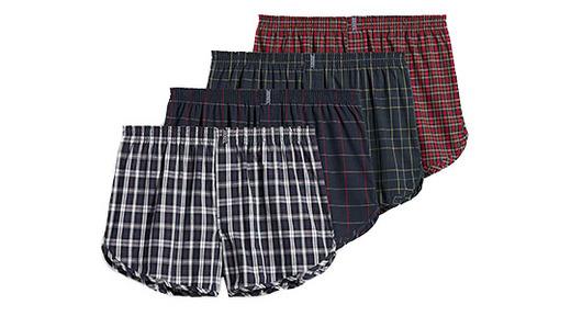2 Pairs Ladies Knickers Check Tartan Trims Plain Briefs Underwear Trendy Panties