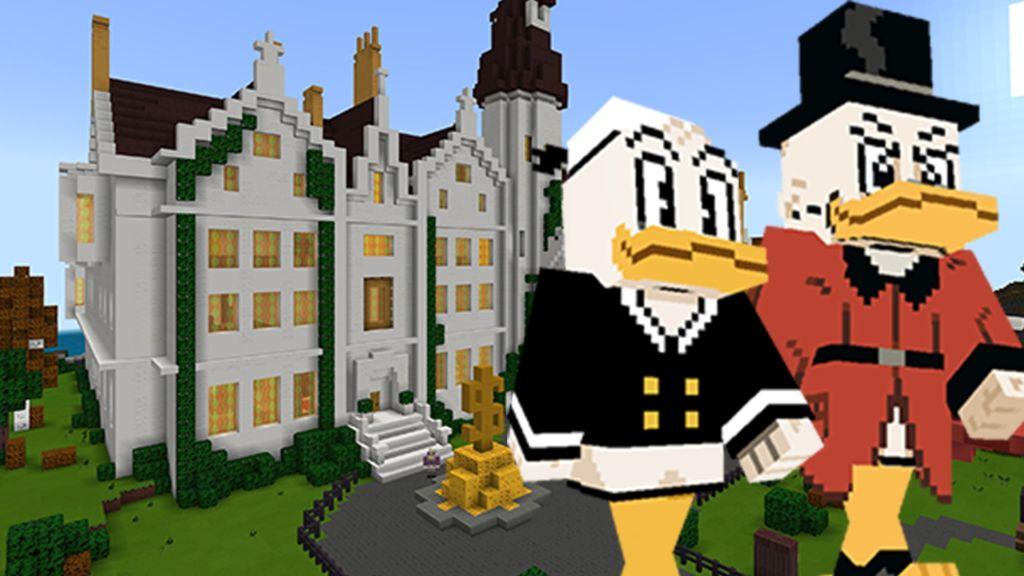 Exploring Ducktales' McDuck Manor and Duckburg in Minecraft