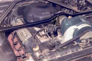 a close up of an engine