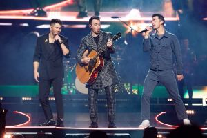 Nick Jonas, Kevin Jonas and Joe Jonas perform on stage during Jonas Brothers' 'Happiness Begins' tourThe Jonas Brothers in concert at The Frank Erwin Center, Austin, USA - 07 Dec 2019