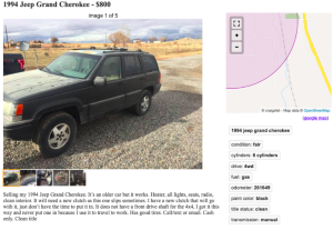 a close up of a car: Image: Gabe/Craigslist