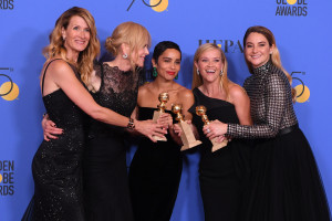 Laura Dern, Nicole Kidman, Zoe Kravitz, Reese Witherspoon and Shailene Woodley - Best Television Limited Series or Motion Picture Made for Television - 'Big Little Lies'75th Annual Golden Globe Awards, Press Room, Los Angeles, USA - 07 Jan 2018