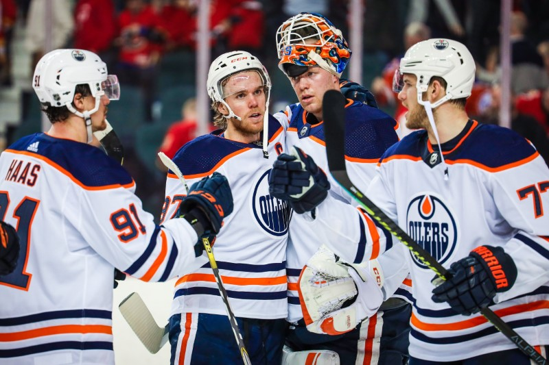 Nhl Roundup Oilers Dominate Heated Win Over Flames E Radio Usa