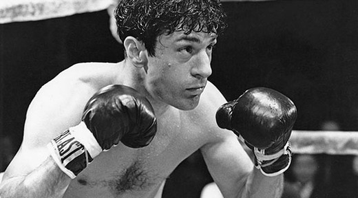 American actor Robert De Niro as boxer Jake LaMotta in a scene from 'Raging Bull', directed by Martin Scorsese, 1980.