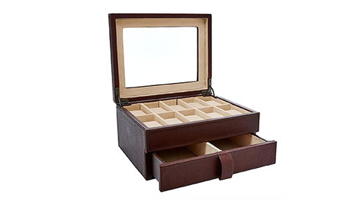 Fossil Leather Watch Box