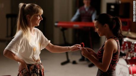"Heather Morris and Naya Rivera on ""Glee"" in 2014."