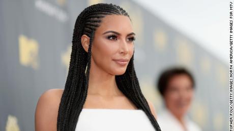 TV personality Kim Kardashian attends the 2018 MTV Movie And TV Awards at Barker Hangar on June 16, 2018 in Santa Monica, California.