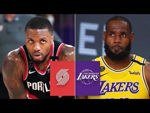 Portland Trail Blazers Vs Los Angeles Lakers Game 1 Highlights 2020 Nba Playoffs E Radio Usa