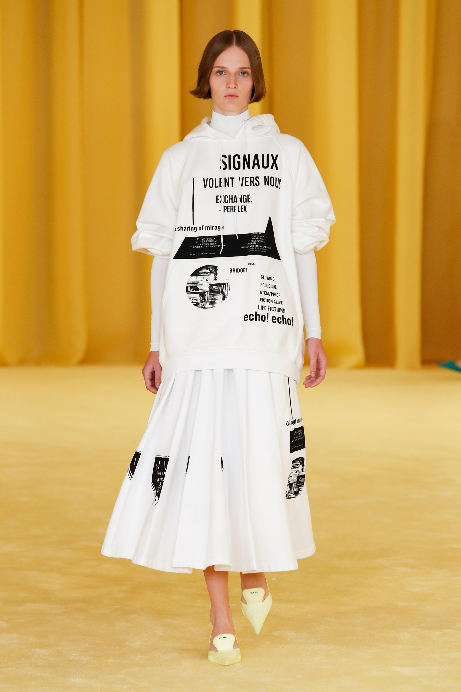 Image may contain Human Person Clothing Apparel Fashion Runway Chiara Caselli Shoe and Footwear