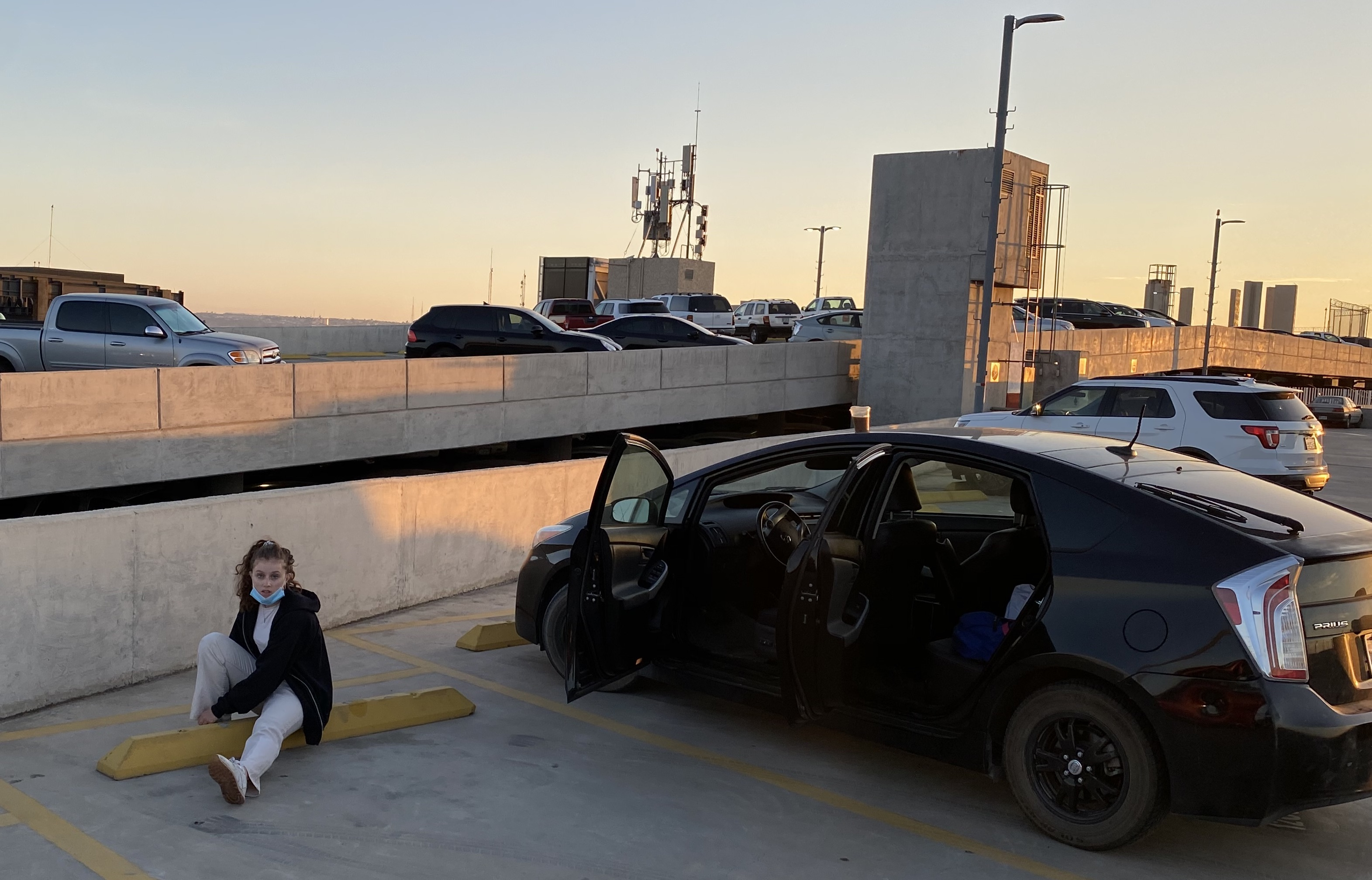 Olivia Bednar at the airport in Tijuana. Photo courtesy of Bednar