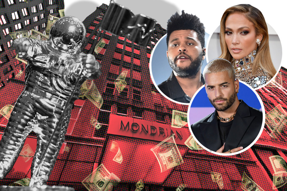 Partygoers were told an event ahead of the VMAs at the Mondrian would host the likes of Jennifer Lopez, The Weeknd and Maluma.