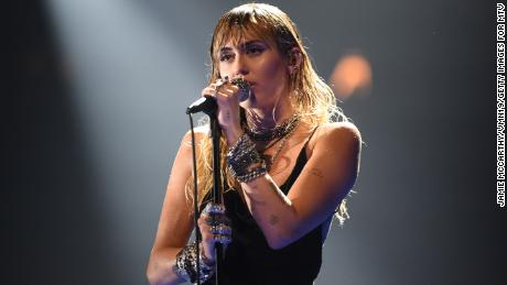 Miley Cyrus performs onstage during the 2019 MTV Video Music Awards at Prudential Center on August 26, 2019, in Newark, New Jersey.