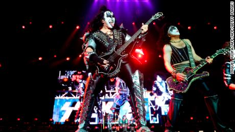 Iconic rockers Gene Simmons (left) and Paul Stanley (right) of Kiss are well known for over-the-top performances.
